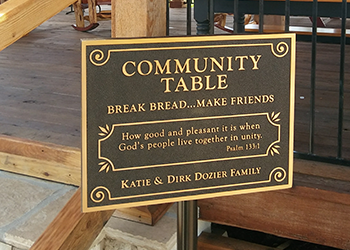 Community Table Sign